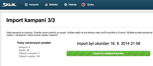 import kampani sklik